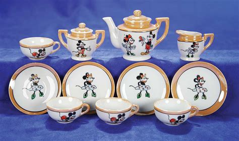 Disney Store Japan Minnie Tea Cup Set For One Ori kaleidoscope 602 japanese porcelain mickey mouse tea set in original box