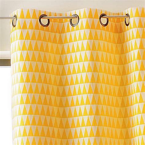 rideau tamisant 135 x h260 cm backgammon jaune rideau
