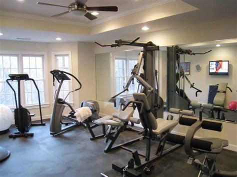 Home Fitness Rooms Manly Home Gyms Decorating And Design Ideas For Interior