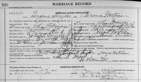 Ohio State Marriage Records Genealogy Data Page 35 Notes Pages