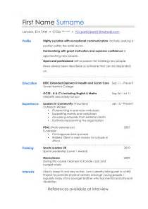 Resume Layout Sles by Layout Of Cv