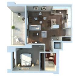 Apartment 3d Floor Plans by Zodev Design Architectural Rendering Architectural