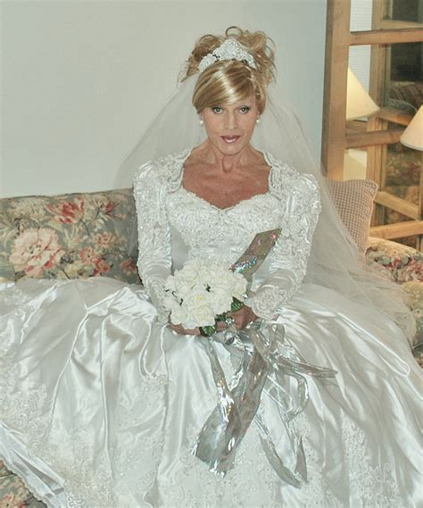 crossdresser trying on wedding dress here s another romantic picture from bridal the