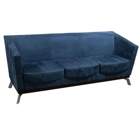 arcadia achella used suede sofa blue national office