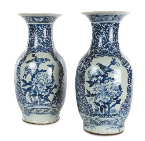 vasi in porcellana coppia di vasi in porcellana e cina dinastia
