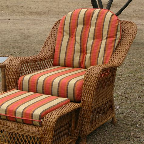 wicker bench cushions chair cushion set wicker style