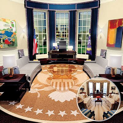 obama oval office decor oval office redesign instyle com