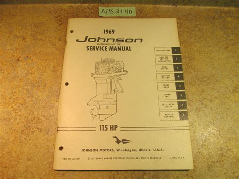 johnson 115 hp outboard motor manual 1969 johnson evinrude outboard service manual year set 1 5