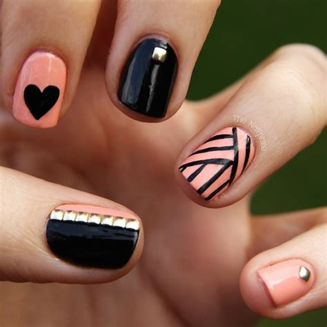 easy nail art black and pink 301 moved permanently