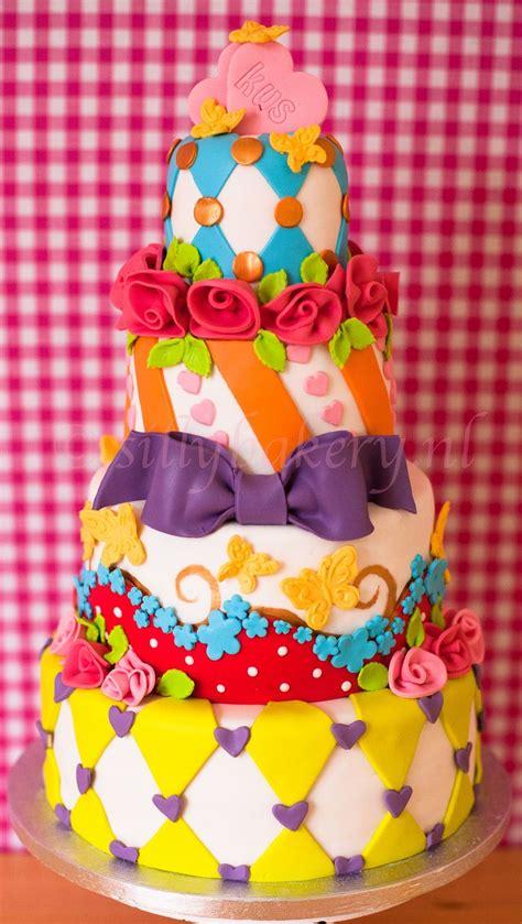 Colourfull Cake colorful wedding cake www sillybakery nl silly bakery