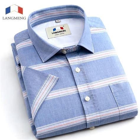 Atasan Big Size Stripe Murah Import Cotton Cina Korea Style langmeng 2016 striped dress shirts sleeve casual