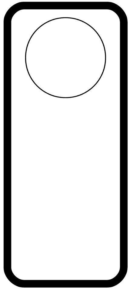 Door Hanger Templates Pinterest Free Door Hanger Template