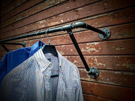 Wall Mounted Garment Rack by Heavy Duty Wall Mounted Clothes Rack Wall Mounted Clothes