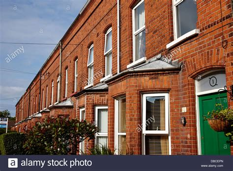 houses to buy in belfast victorian red brick terraced homes in belfast northern ireland uk stock photo royalty