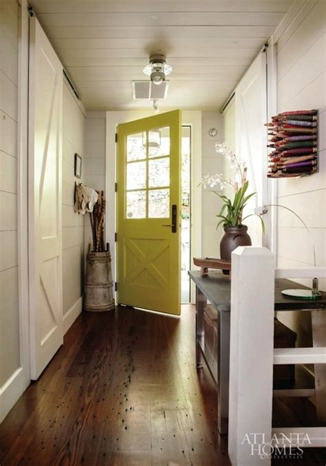 yellow foyer cottage den library office