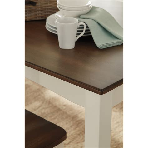 tone finish  piece dining room table set  signature design  ashley wolf furniture
