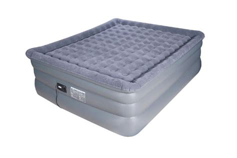 Air Mattress Reviews Cing by King Raised Pillow Top Comfort Coil Air Bed With Built In