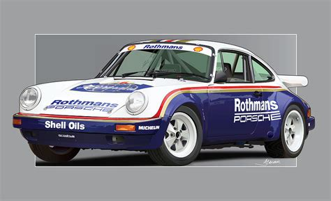 Porsche 911 Sc Rs by 911 Porsche 911 Sc Rs Drawing By Alain Jamar