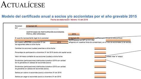 certificados de ingresos y retenciones del a o gravable 2014 modelo de certificado de ingresos para independientes