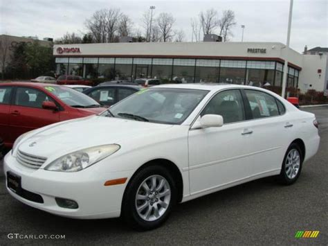 lexus sedan white 2003 crystal white lexus es 300 23451854 photo 3
