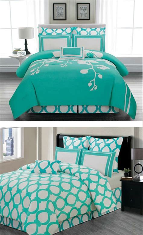 white and teal comforter beautiful teal and white bedding bedding pinterest