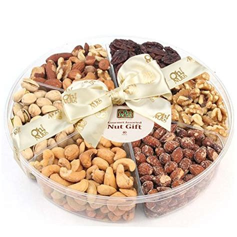 Nuts Gifts For - 6 section assorted nut platter nuts gift basket nut