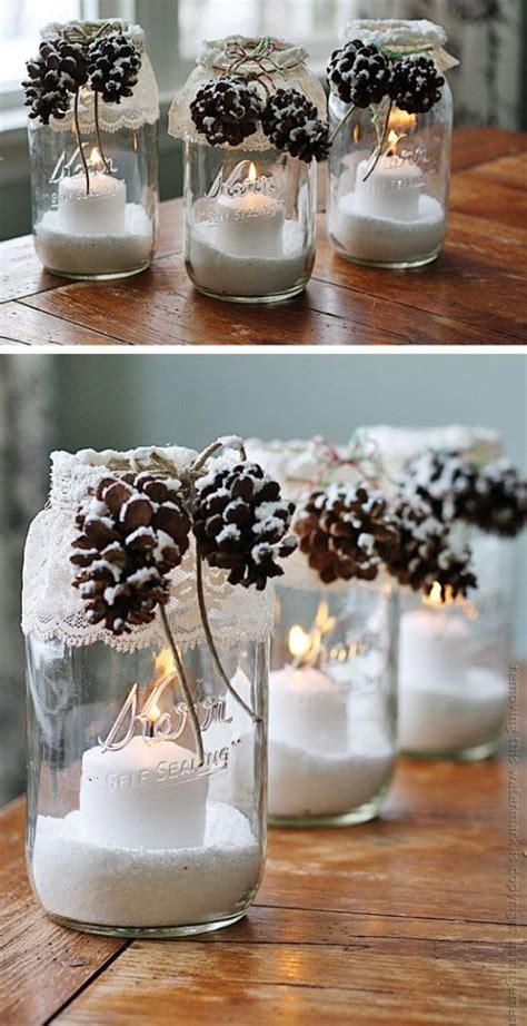 Home Decor Handmade riciclare i barattoli di vetro per decorare a natale 20