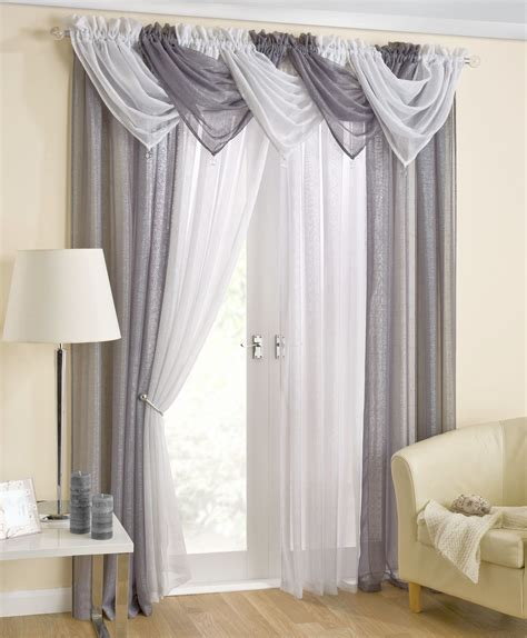 www curtains com casablanca grey voile swag