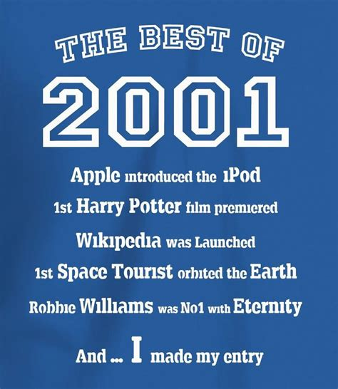 16th Birthday Quotes For Boys The Best Of 2001 16th Birthday T Shirt For Boys 16