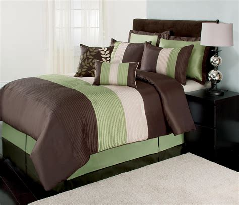 brown and white bedding the great find green brown and white boston bedding set