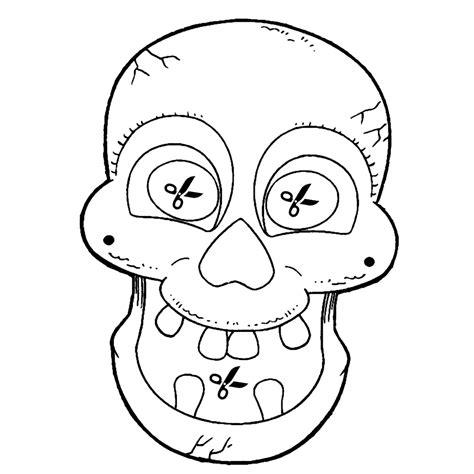 doodskop tekenen leuk voor kids een skelettenmasker