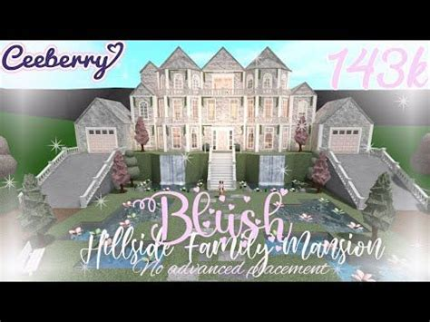 bloxburg blush hillside family mansion   advanced