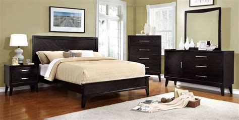 Espresso Finish Size Bedroom Set by Snyder Espresso Bedroom Set From Furniture Of America
