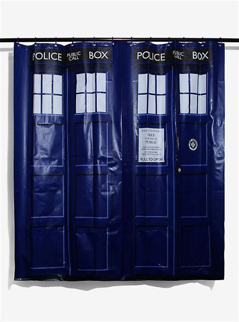 tardis shower curtain doctor who tardis shower curtain boxlunch