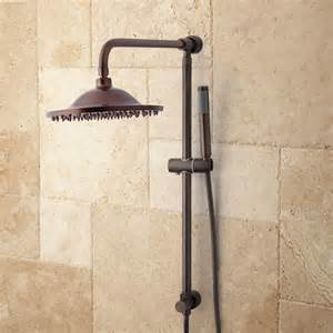 bostonian brass rainfall nozzle shower system with