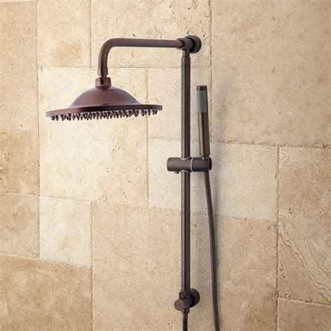 oil rubbed bronze bathroom bostonian brass rainfall nozzle retrofit shower system