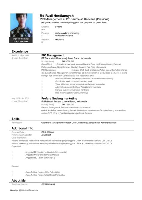 update jobstreet resume resume ideas