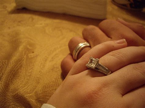 engagement rings are often worn the fourth finger left