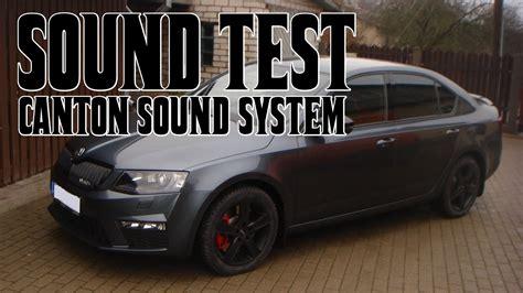 canton skoda canton sound system sound test škoda octavia rs 2015