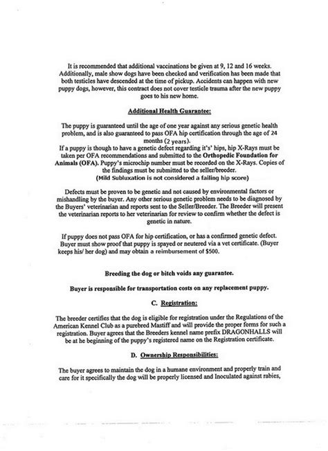 100 dog breeding contract template how to write a