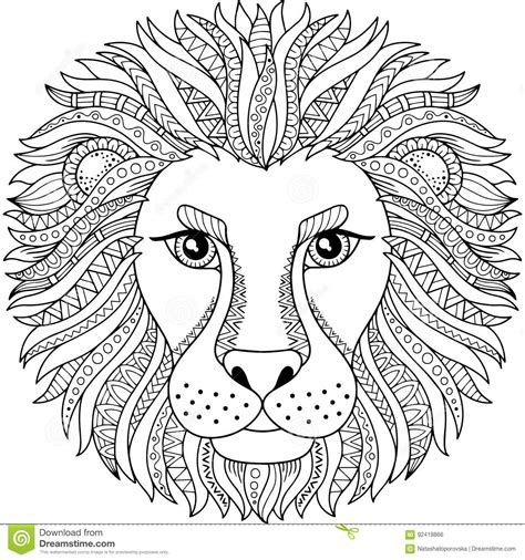 abstract lion coloring pages vector lion tattoo sketch coloring page