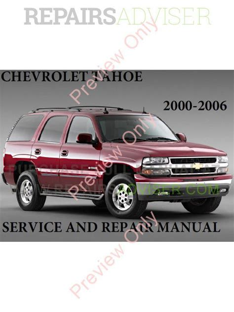 how to fix cars 2006 chevrolet tahoe electronic valve timing chevrolet tahoe 2000 2006 my service repair manual pdf download