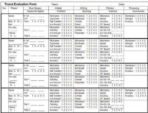 Soccer Recruiting Spreadsheet by Basketball Tryout Score Sheet Basketball Scores