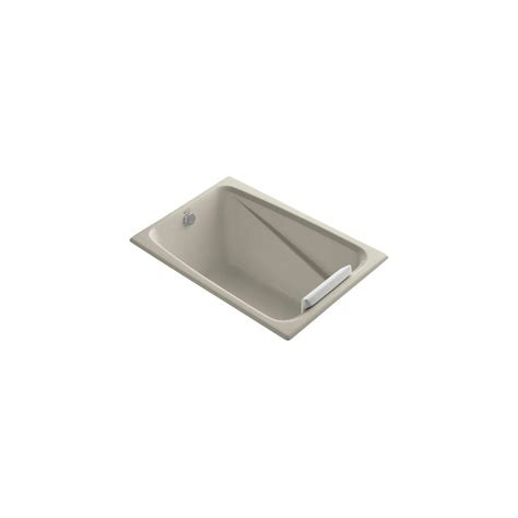 kohler greek bathtub kohler greek 4 ft reversible drain bathtub in sandbar k