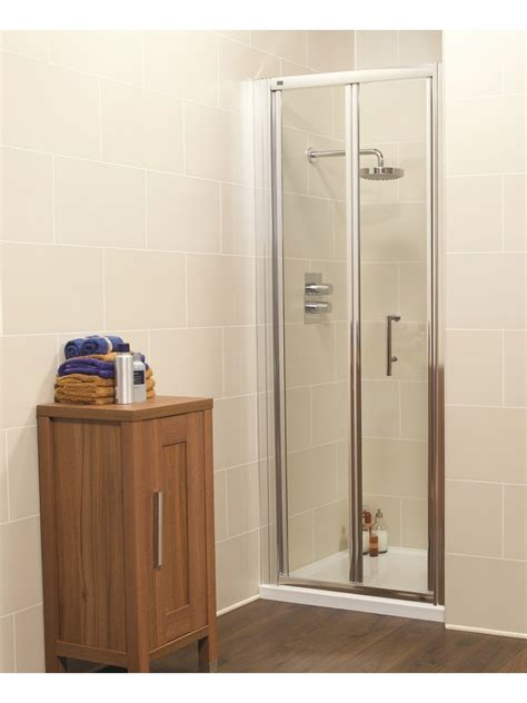 Shower Tray And Door Kyra 760 Bifold Door And Jt Ultracast Shower Tray