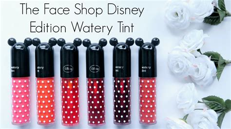 Harga The Shop Lip Tint Disney review the shop disney edition watery tint