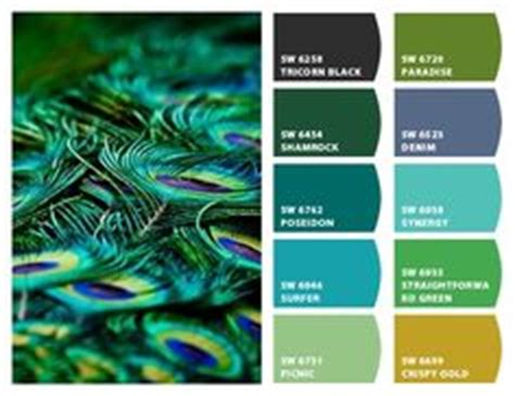 peacock paint colors on