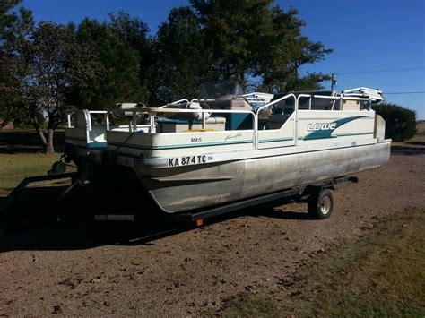 pontoon boat rental kansas city 1997 lowe 185 fish n fun pontoon ptci classifieds