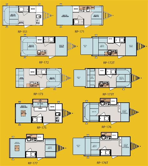 Rv Bunkhouse Floor Plans forest river r pod ultra lite travel trailer floorplans