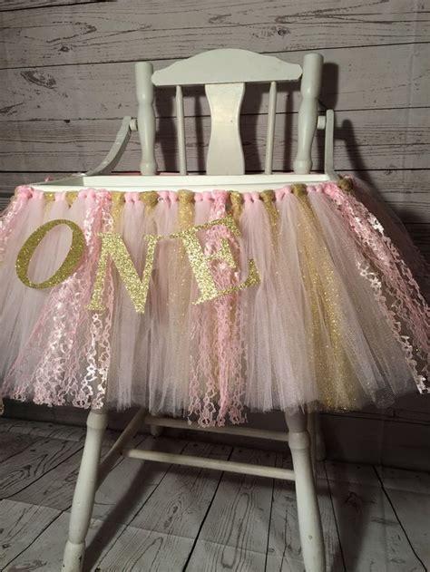 high chair tutu pink and gold high chair tutu high chair skirt highchair